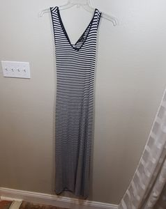 New bodycon maxi striped keyhole back dress